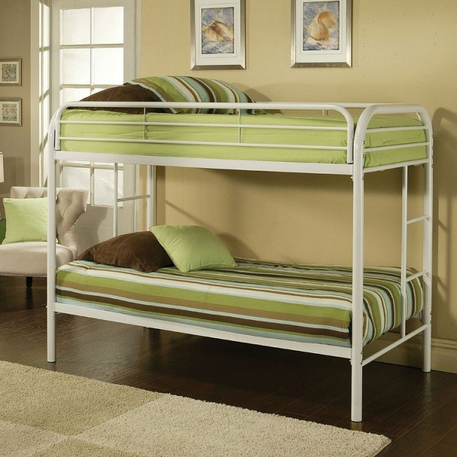 Thomas Twin Bunk Bed (White)