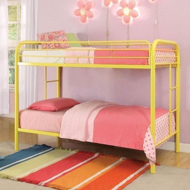 Thomas Twin Bunk Bed (Yellow)