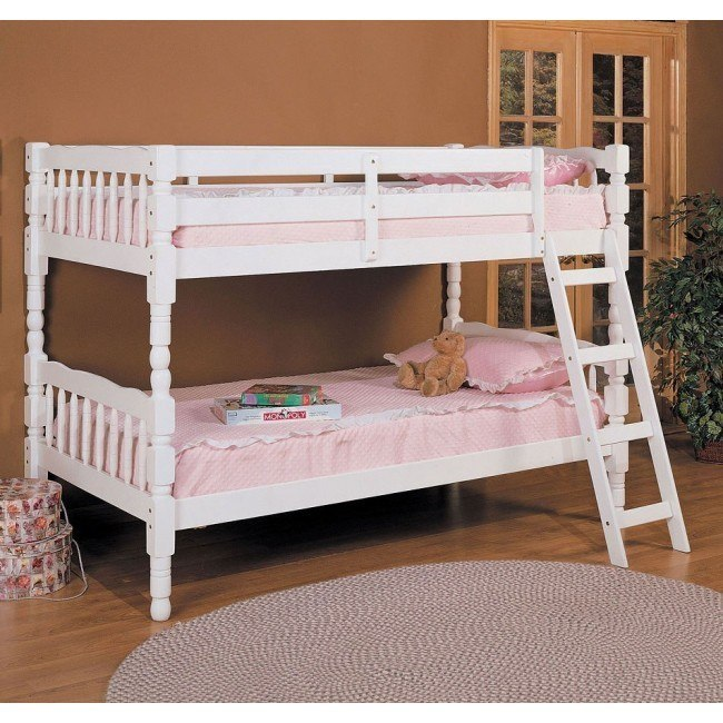 Homestead Twin Bunk Bed (White)