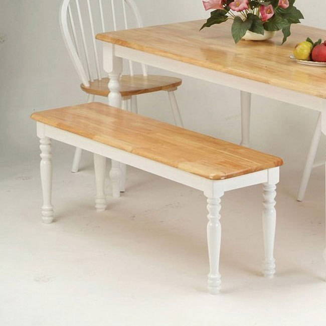 Farmhouse Bench (Natural/White)