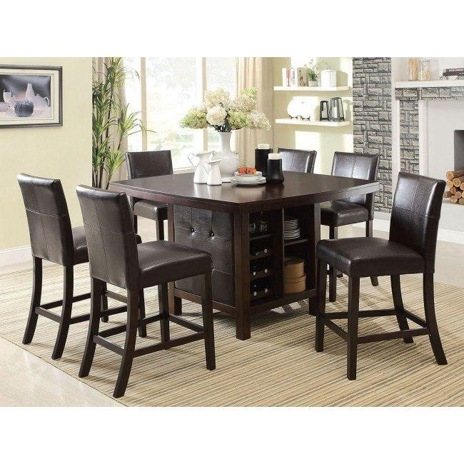Bravo Counter Height Dining Set w/ Idris Chairs
