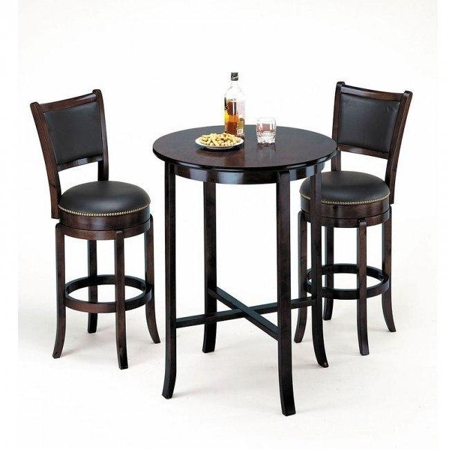 Chelsea Bar Table Set (Espresso)
