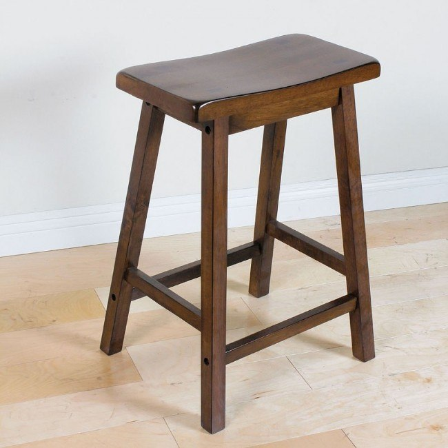 Gaucho Counter Height Stool (Walnut) (Set of 2)