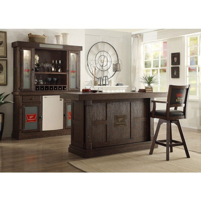 Miller High Life 82 Inch Home Bar Set