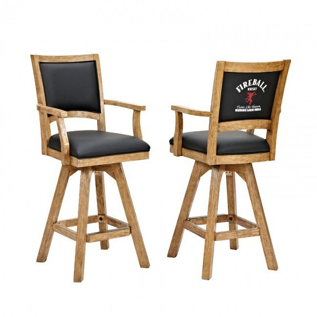 Fire Ball 30 Inch Barstool w/ Arms (Set of 2)