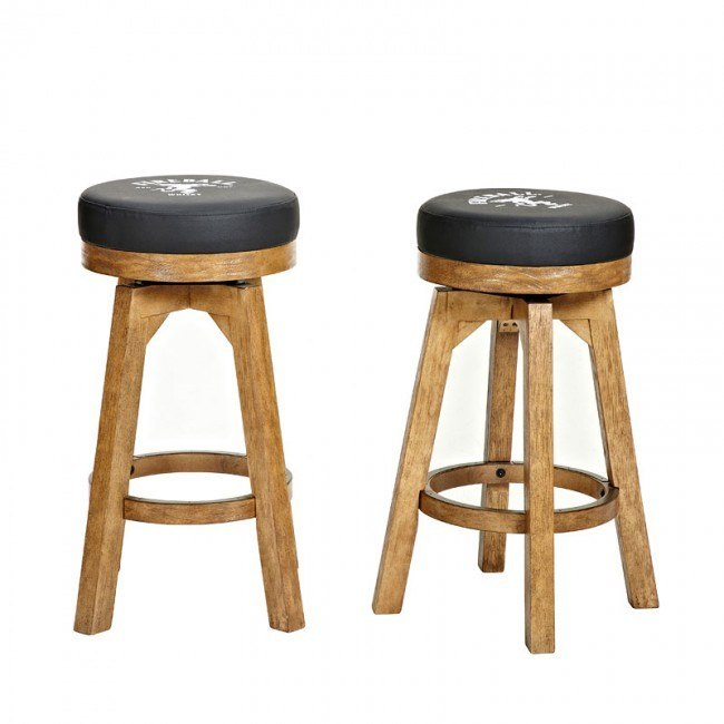 Fire Ball Round Backless Barstool (Set of 2)