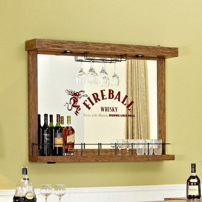 Fire Ball Wall Bar w/ Mirror