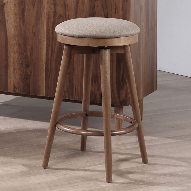 Mid Modern Backless Bar Stool Set Of 2 Home Bar And Game Room