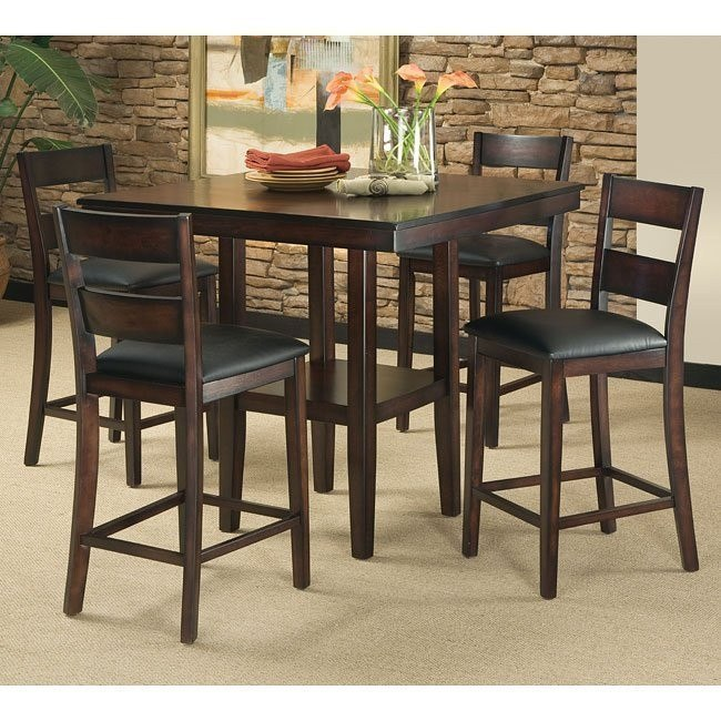 Standard Furniture Pendleton 5 Piece Dining Room Set In: Pendwood 5-Piece Counter Height Dining Room Set By