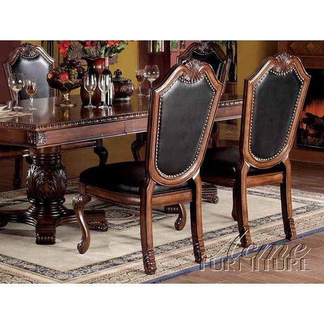Chateau De Ville PU Leather Side Chair (Set of 2)