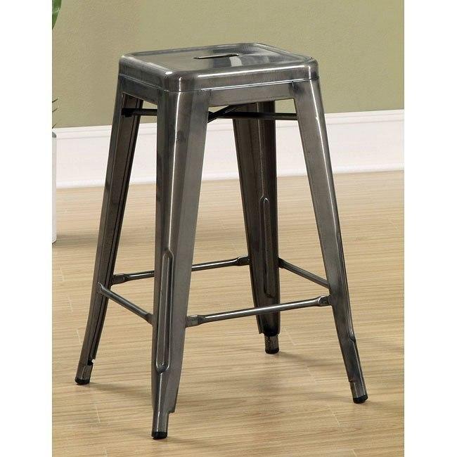 Cool Antique Silver 24 Inch Metal Bar Stool Set Of 2 Uwap Interior Chair Design Uwaporg