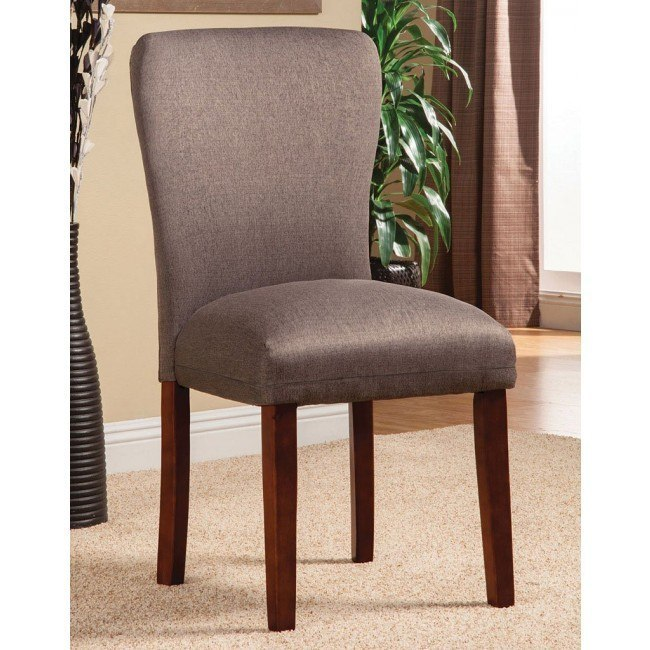 Parson Side Chair (Light Brown) (Set of 2)