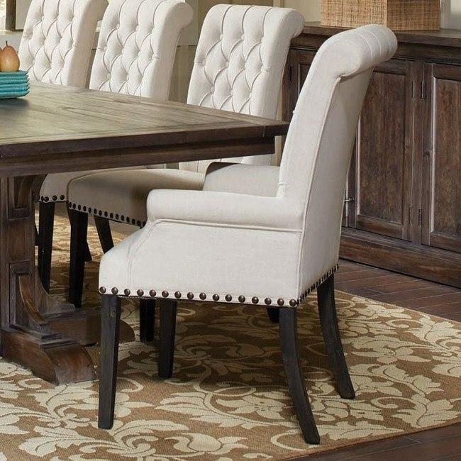 Weber Cream Arm Chair (Set of 2)