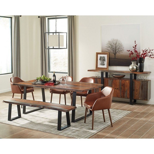Jamestown Dining Room Set w/ Cognac Chairs