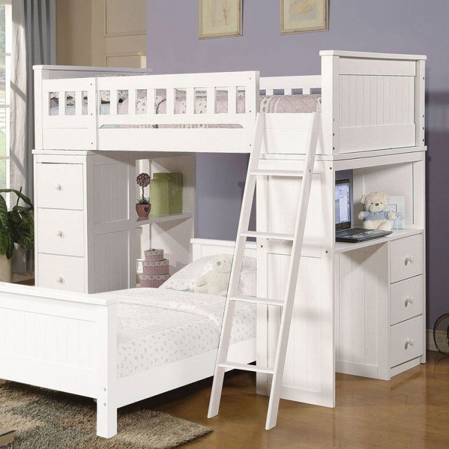 Willoughby Loft Bed (White)