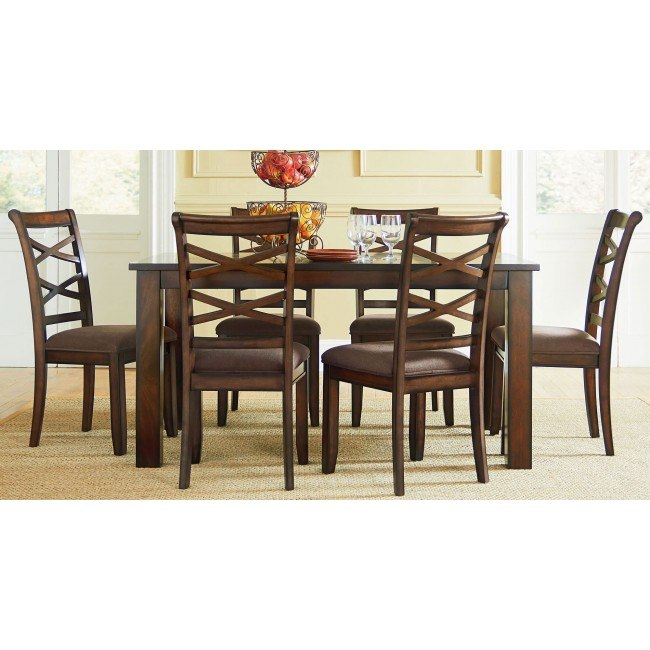 Redondo 7 Piece Dining Room Set (Cherry)