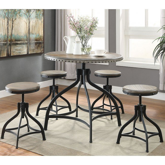 Kenneth 5-Piece Adjustable Height Dinette