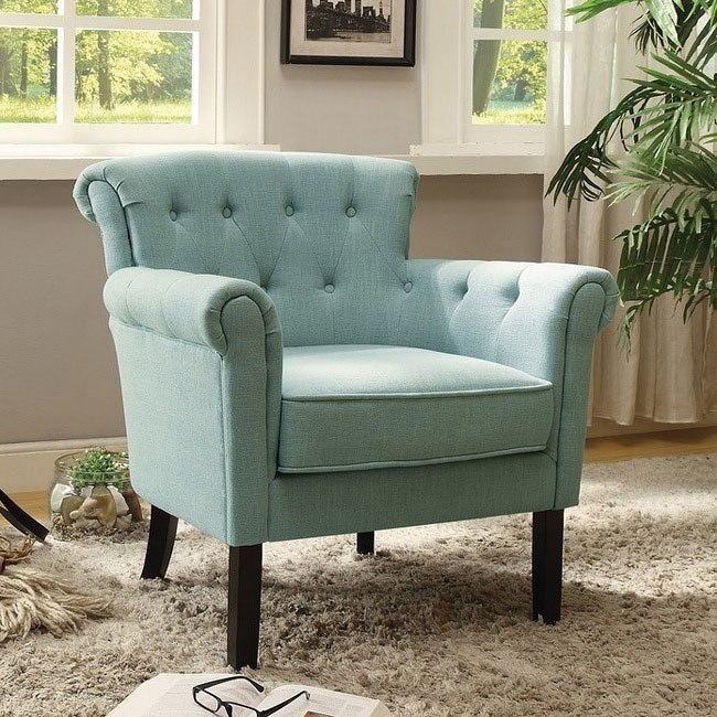 Swell Barlowe Blue Accent Chair Theyellowbook Wood Chair Design Ideas Theyellowbookinfo
