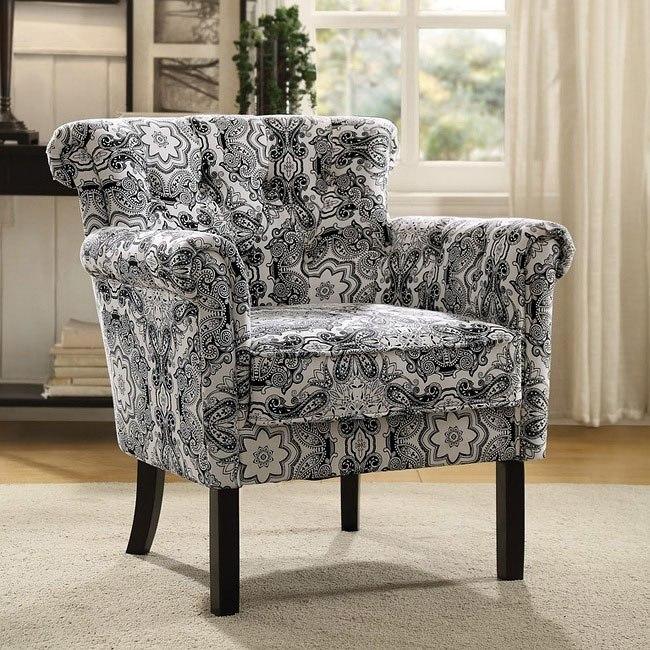 Wondrous Barlowe Paisley Print Accent Chair Theyellowbook Wood Chair Design Ideas Theyellowbookinfo