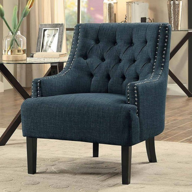 Amazing Charisma Indigo Accent Chair Gmtry Best Dining Table And Chair Ideas Images Gmtryco