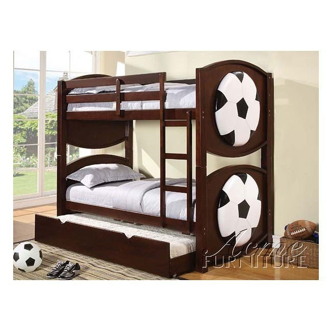 All Star Soccer Bunk Bed with Trundle