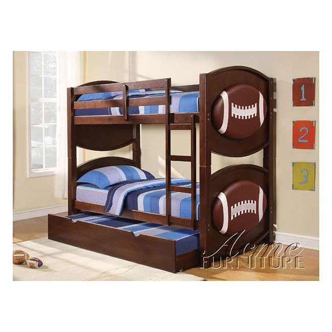 All Star Football Bunk Bed With Trundle By Acme Furniture Furniturepick