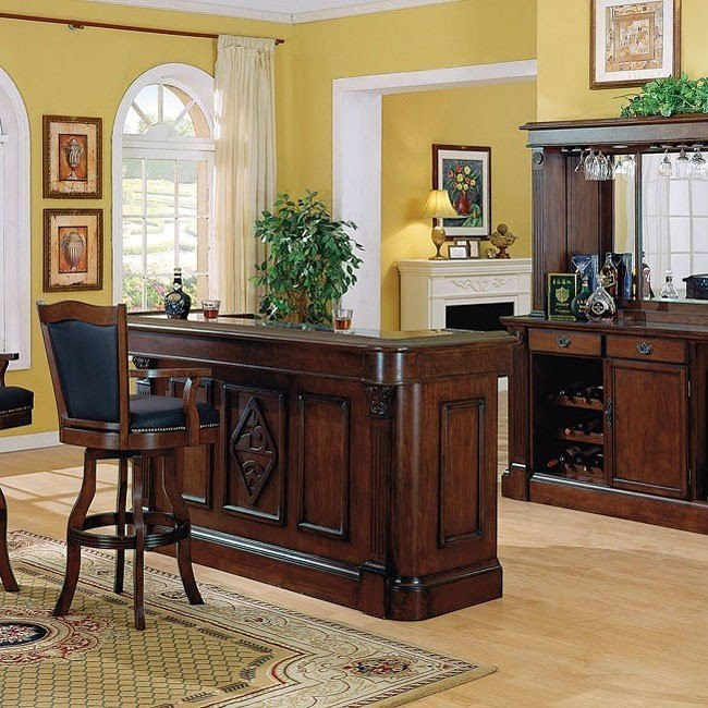 Monticello Home Bar (Distressed Walnut)