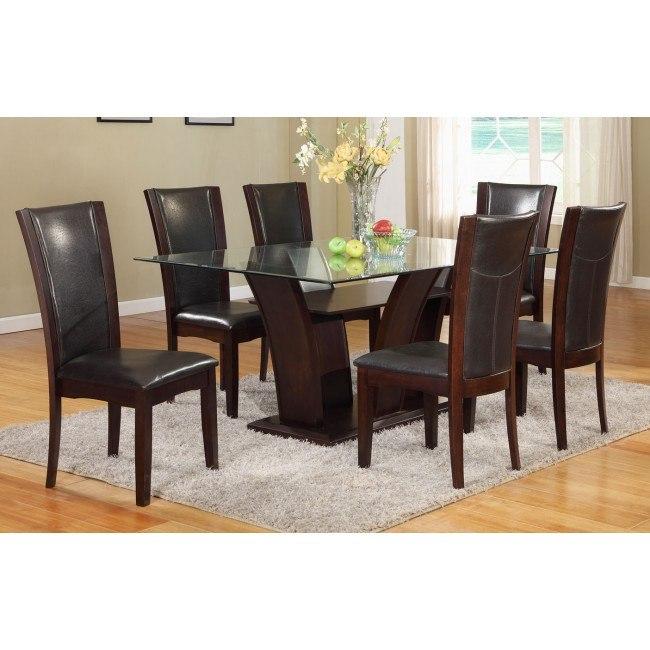 Camelia Rectangular Dining Set w/ Espresso Chairs