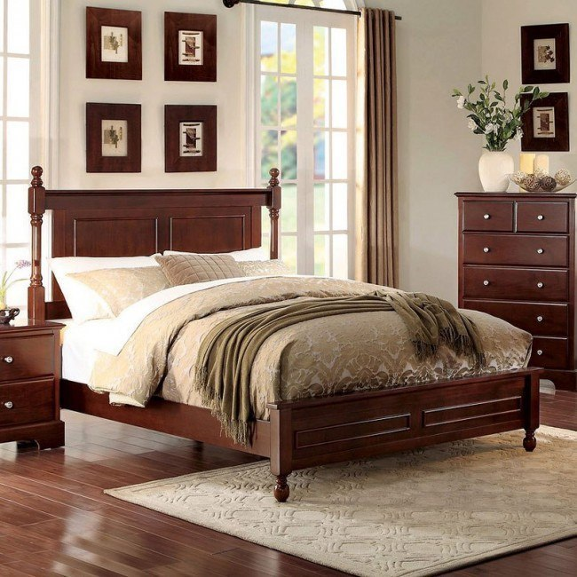 Morelle Panel Bed (Cherry)