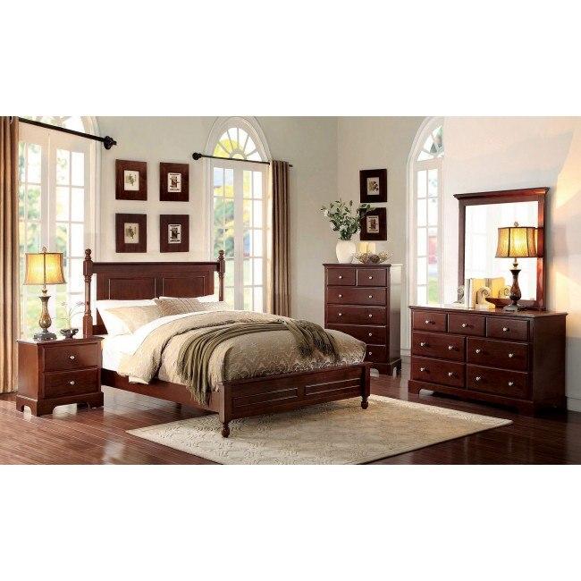 Morelle Panel Bedroom Set (Cherry)