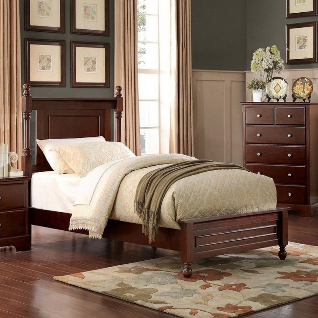 Morelle Youth Panel Bed (Cherry)
