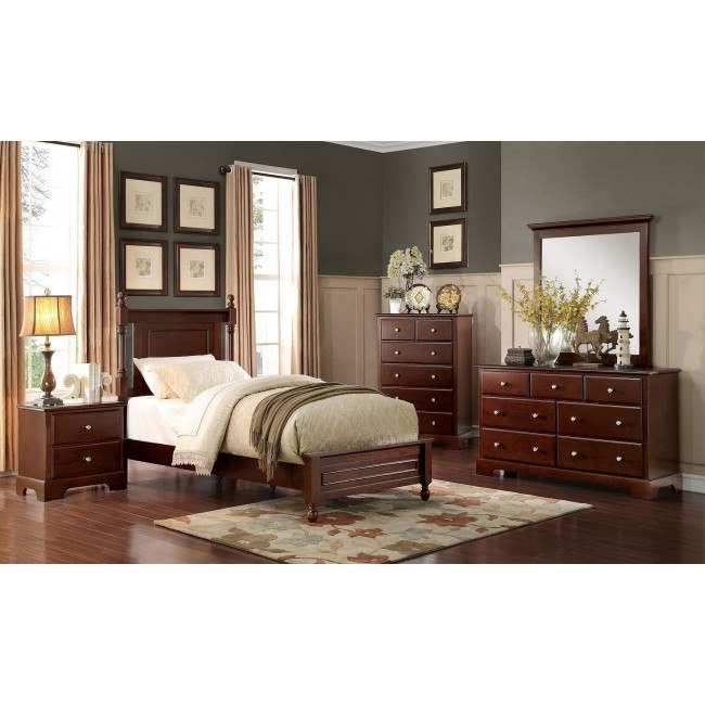 Morelle Youth Panel Bedroom Set (Cherry)