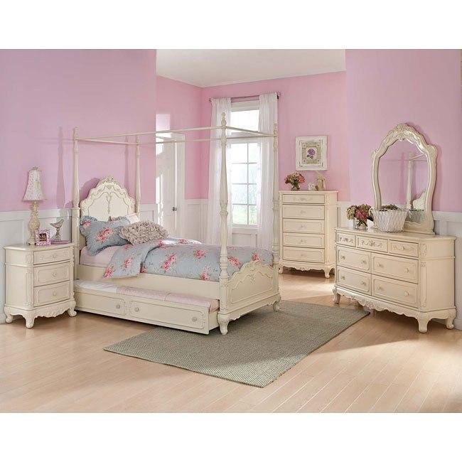 Cinderella Youth Canopy Bedroom Set