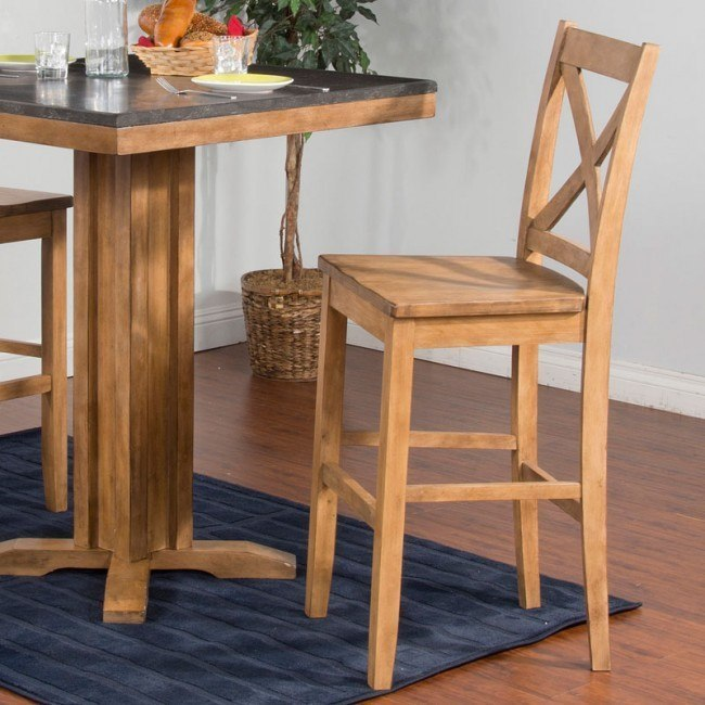 Blue Moon Barstool (Desert Sand) (Set of 2)
