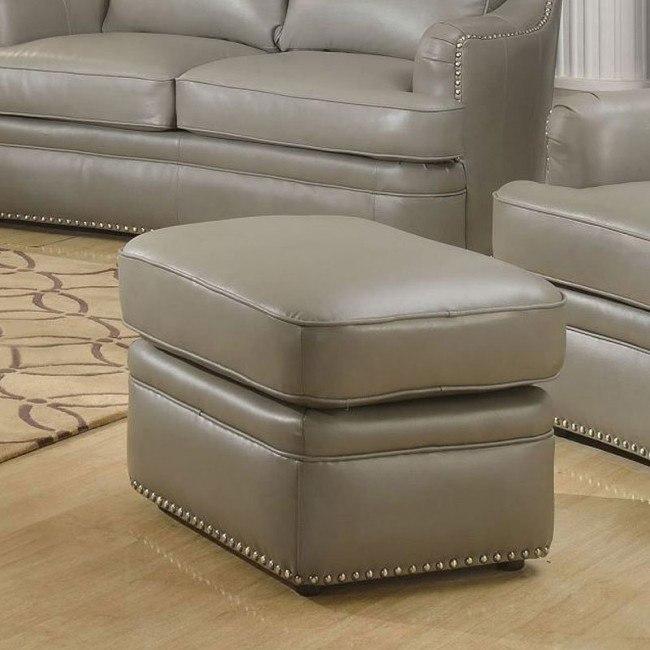 Tulsa Leather Ottoman