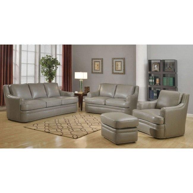 Tulsa Leather Living Room Set