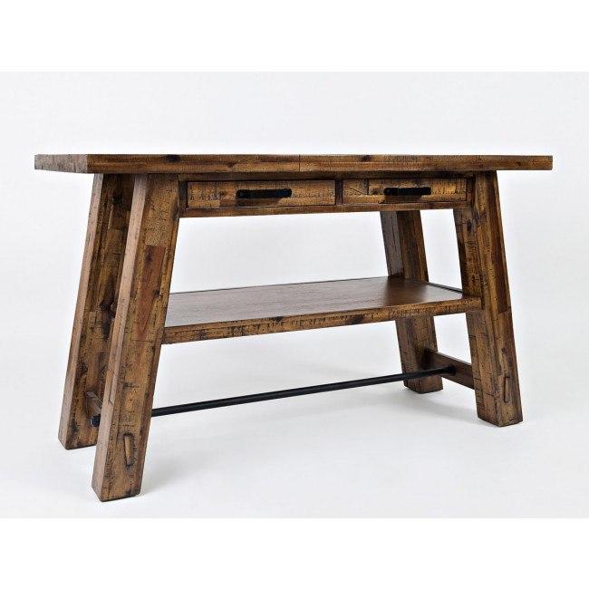 Cannon Valley Trestle Sofa / Media Table