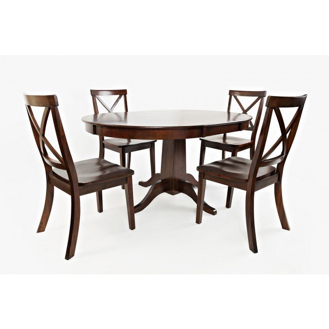 Everyday Classics Round To Oval Dining Room Set (Cherry)