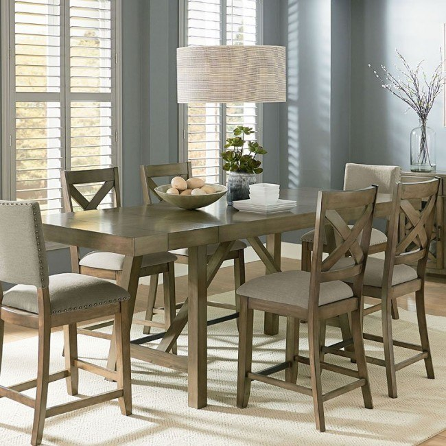 Omaha Counter Height Dining Table (Grey) by Standard ...