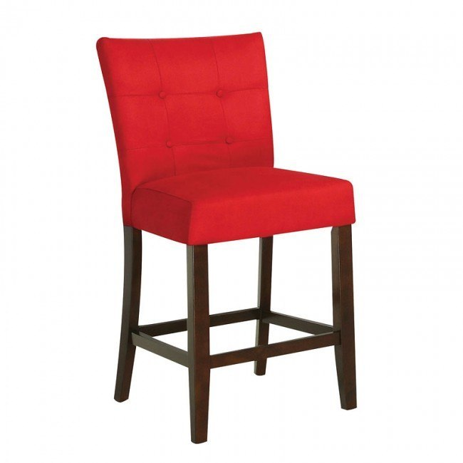 Baldwin Counter Height Chair (Red) (Set of 2)