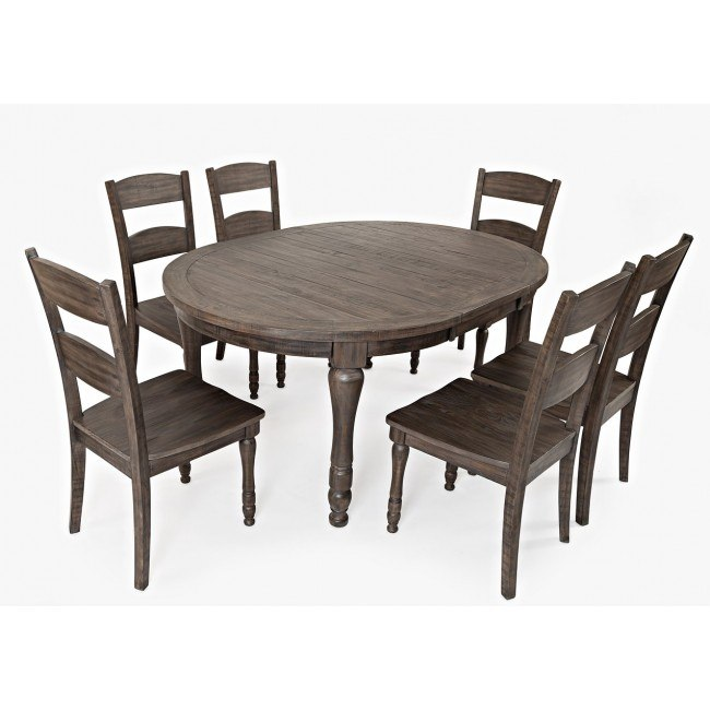 Madison County Round to Oval Dining Room Set (Barnwood)