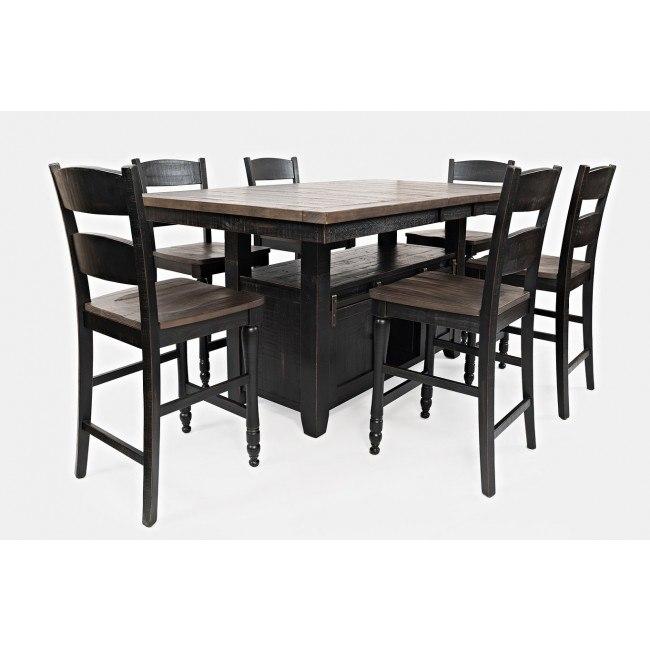 Madison County Adjustable Height Dining Room Set (Vintage Black)