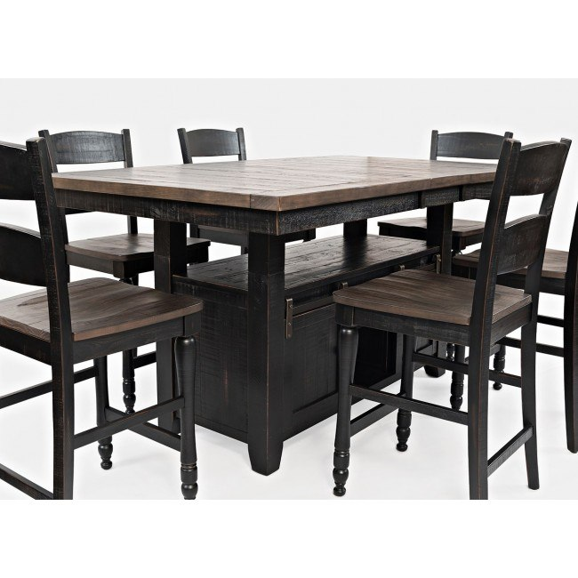 Madison County Adjustable Height Dining Table (Vintage Black)
