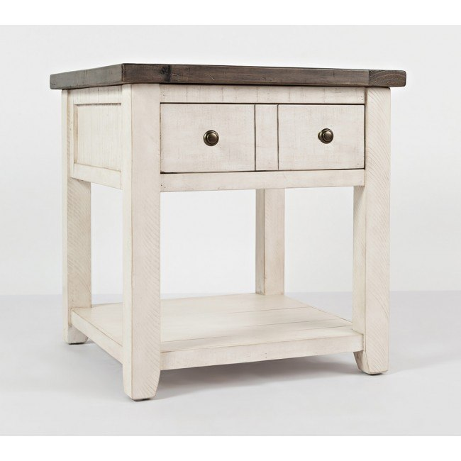 Madison County End Table (Vintage White)