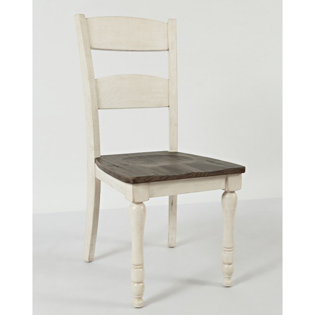 Madison County Ladderback Side Chair (Vintage White) (Set of 2)