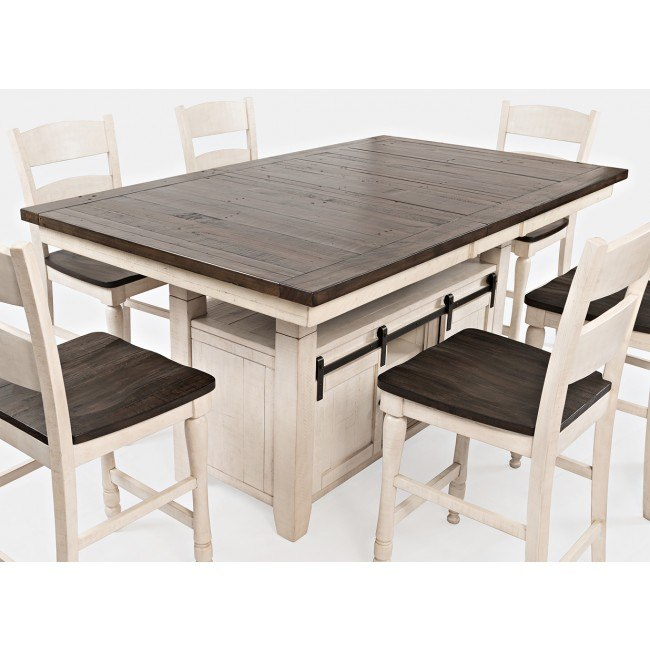 Madison County Adjustable Height Dining Table (Vintage White)