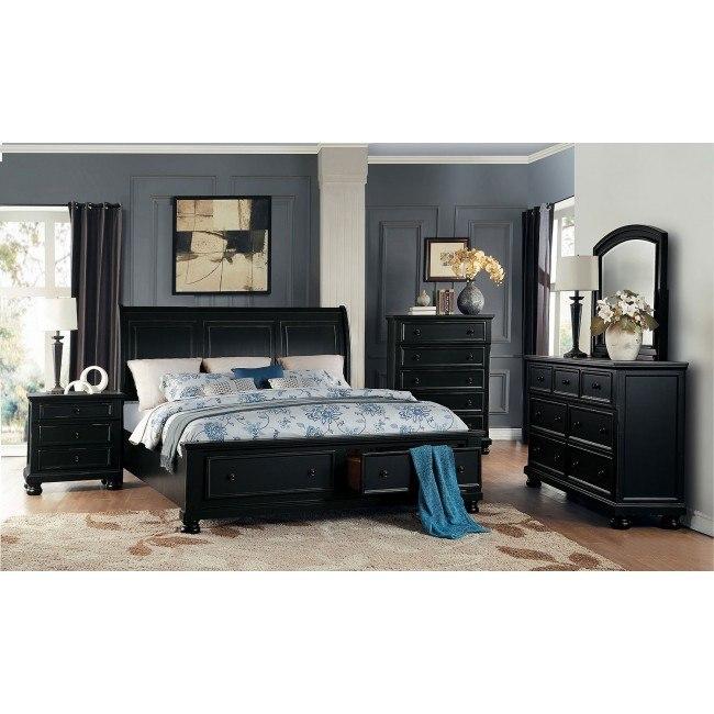 Laurelin Storage Bedroom Set (Black)