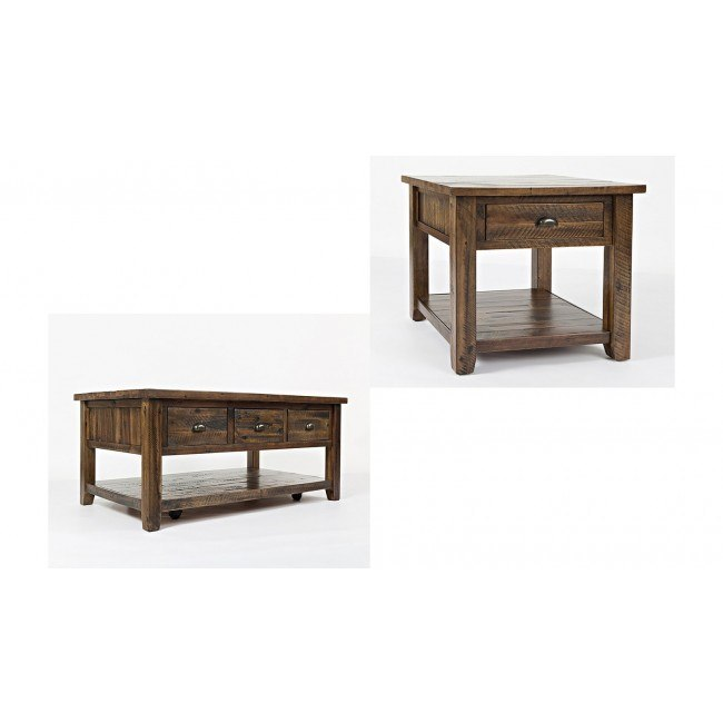 Artisans Craft Occasional Table Set (Dakota Oak)