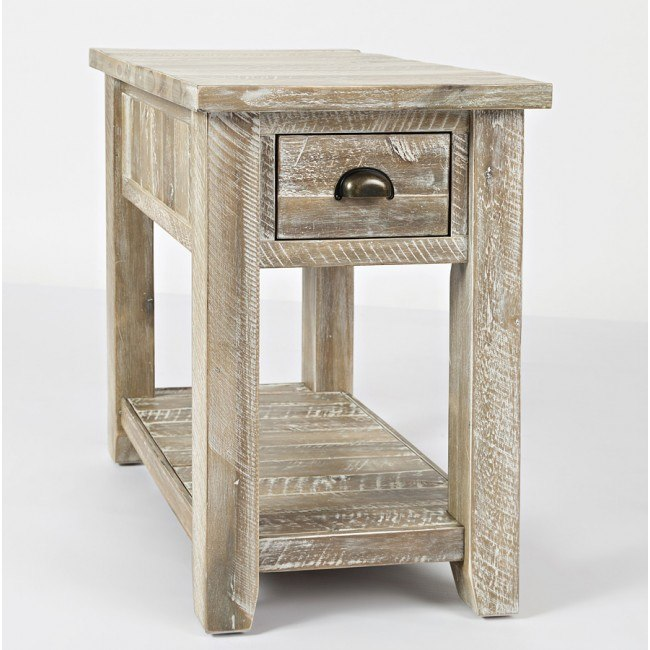 Artisans Craft Chairside Table (Washed Grey)
