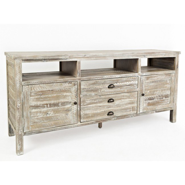 Artisans Craft 70 Inch Media Console (Washed Grey)
